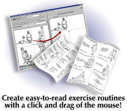 PC-Kits Illustrated Exercise Prescription Software