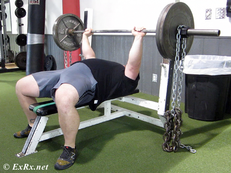 Barbell Bench Press with Chains