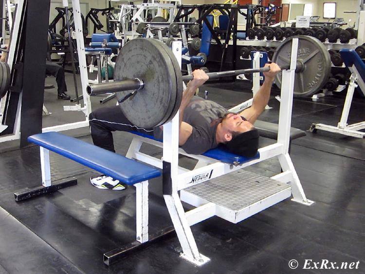 Bench Press with Side Benches for Safety