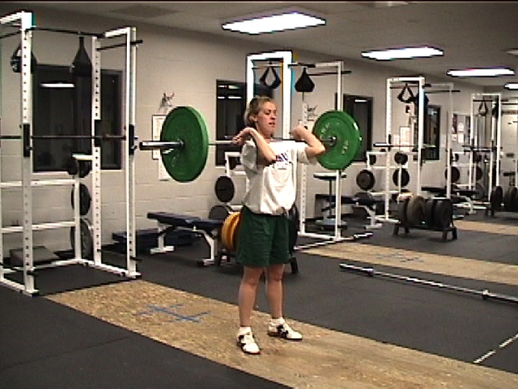 Olypic style weightlifting - correct elbow position