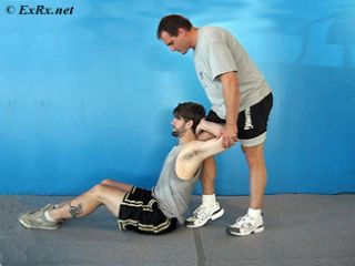 PNF Behind Head Chest Stretch
