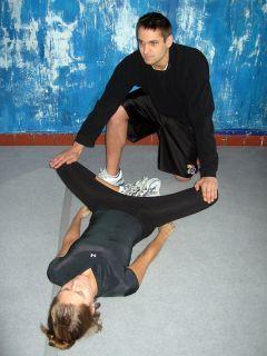 PNF Bent Leg Groin Stretch
