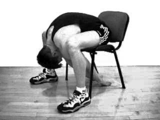 Seated Bent-over Lower Back Stretch